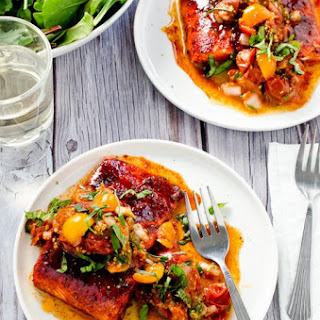 Roast Salmon with Tomato Salsa