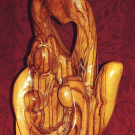 Olive Wood Nativity by Rita Goebert - Artistic Objects Other Objects ( holy land art; olive wood carving; holy family; christmas decorations; statues;,  )