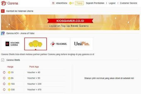 Download garena top up center - KIOS GAME LITE APK latest version