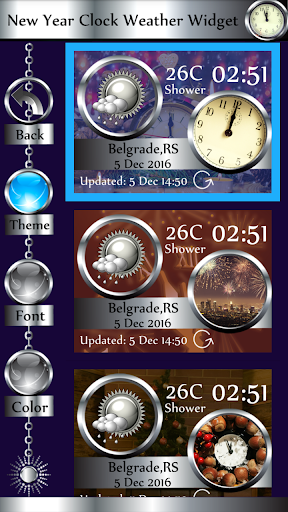 download new year clock weather widget android apps apk 4714937 new year clock weather widget time hands themes fireplace celebrations mobile9