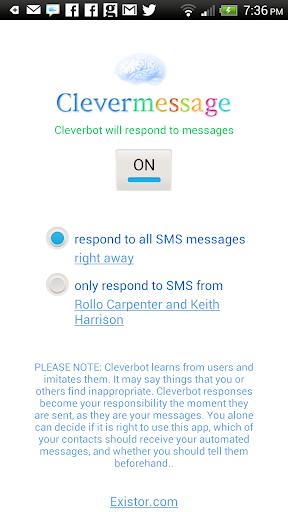 Clevermessage screenshot 1