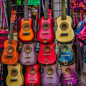 Colorful Guitars by Ruth Sano - Artistic Objects Musical Instruments ( musical, colorful, guitar,  )