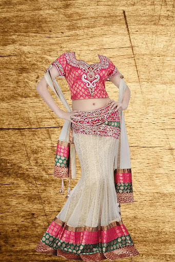 Desi Lehenga Choli Photo Suit