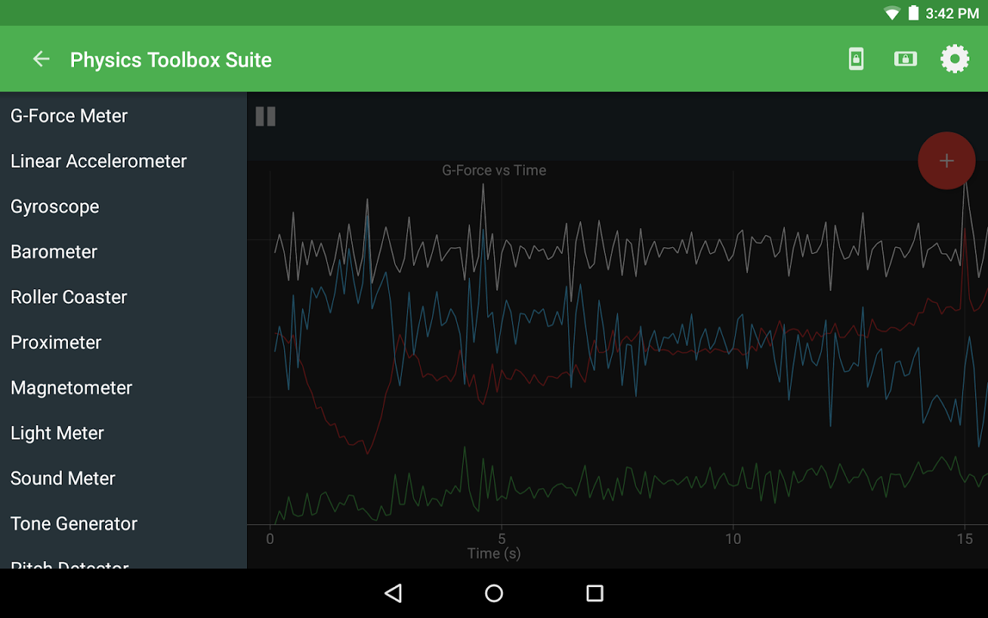 Physics Toolbox Sensor Suite- screenshot