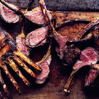 Grilled Saffron Rack of Lamb.