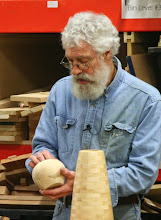 Photo: He praised Margaret Follas' very first hollow form and admired the chip carving on the foot.