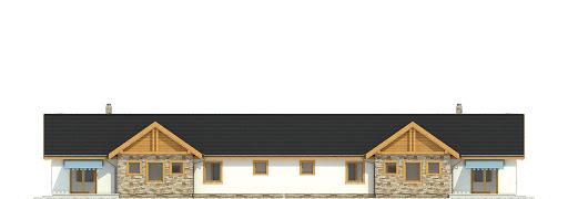 Modraszka z garażem 1-st. bliźniak A-BL1 - Elewacja tylna