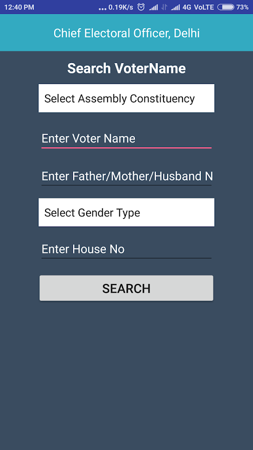 Delhi Election- screenshot