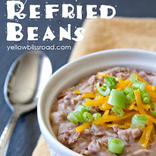 Easy Homemade Refried Beans.