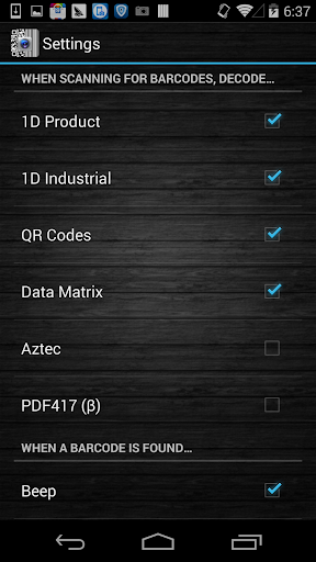 Barcode Scanner Pro screenshot