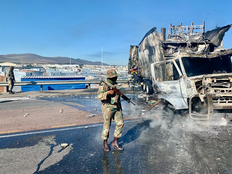 Dunoon explodes after shacks demolished again in Cape Town