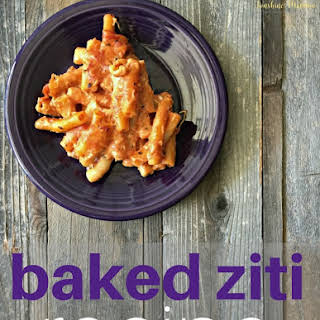 4 Ingredient Baked Ziti.