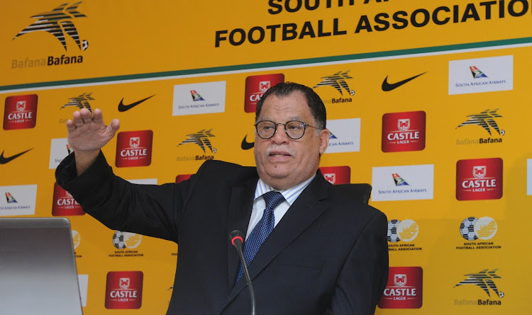 Dr Danny Jordaan SAFA President during the Danny Jordaan Press Conference on the 28 of June 2017 at SAFA House.