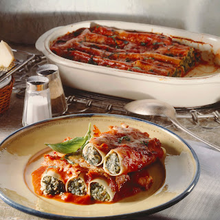 Cannelloni mit Spinat-Ricotta-Füllung