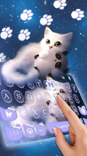 Cutie Cat Keyboard Theme - náhled