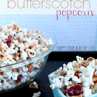 Healthier Apple Cinnamon Butterscotch Popcorn