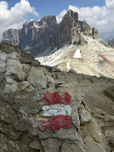 Photo: Line of the Austrian front in the Dolomites,
