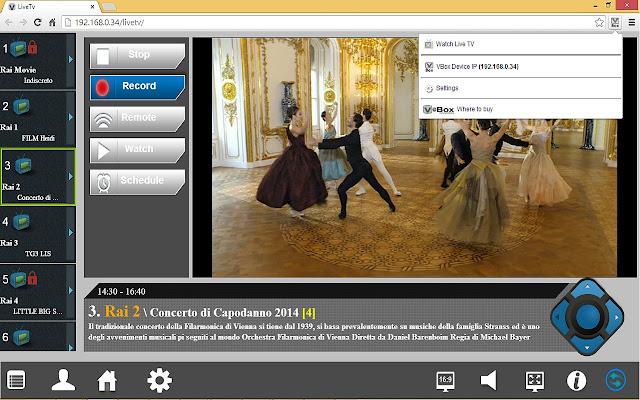 VBox Live TV Extension