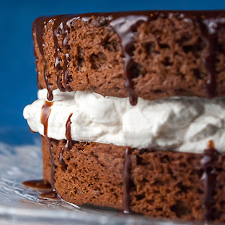 Chocolate Layer Cake with Whipped Cream Filling (Gluten-Free)