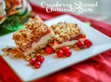 Cranberry Streusel Cheesecake Bars