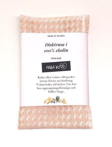 Disktrasa i ekologisk och GOTS-certifierat lin - Aprikos