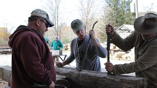 Barn Beam Log Cabin Experiment
