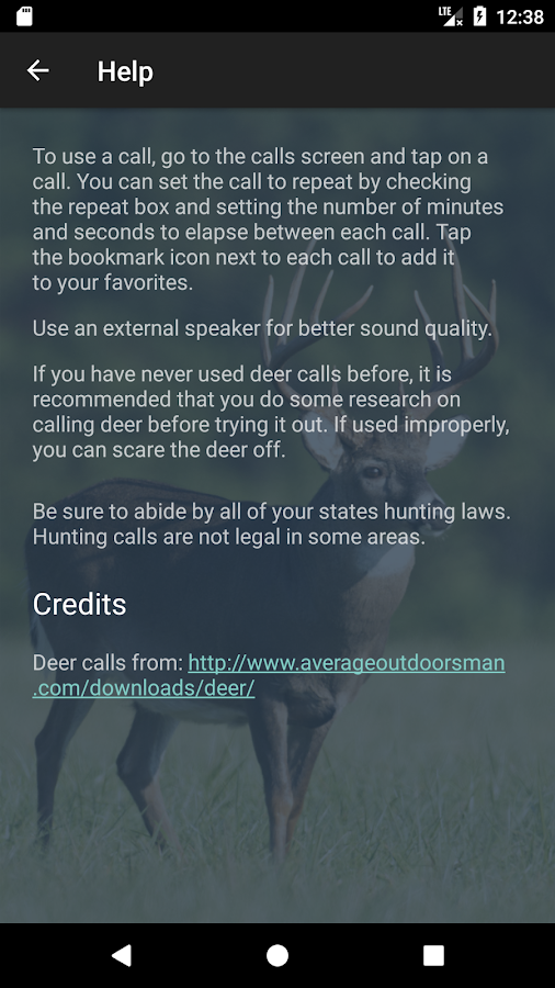 Whitetail Deer Calls- screenshot