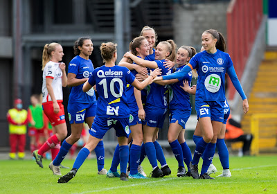 KAA Gent Ladies (even) leider in Super League na makkelijke overwinning tegen Charleroi