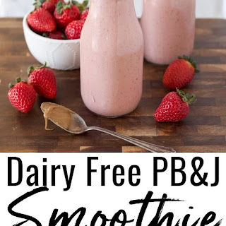 Dairy Free PB&J Smoothie (Grain Free & Vegan).