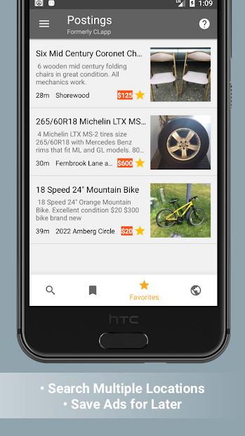 Postings (Craigslist Search App) screenshot 1