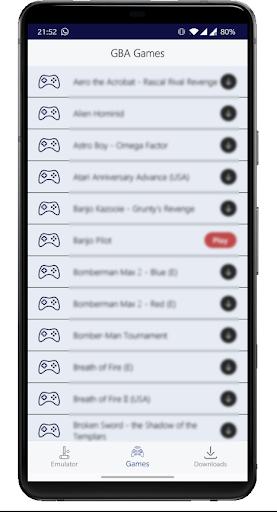 classic gba emulator with roms support screenshot 1