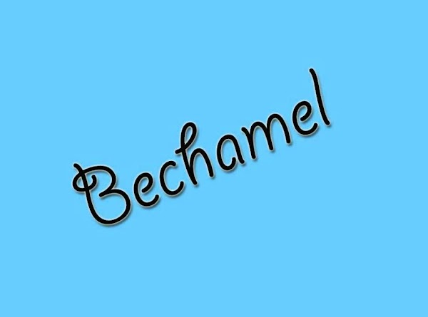 The Béchamel Sauce ------------------------------------------------ To make a, Béchamel Sauce, cook fat (typically butter) and flour together...