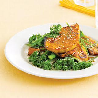 Roasted Pumpkin with Broccolini