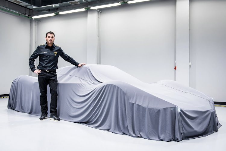 Spyros Panopoulos poses with Chaos still under wraps, which will be available in 1,491kW or 2,237kW versions. Picture: SUPPLIED