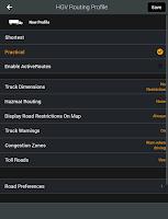 Screenshot of CoPilot Truck Europe Region