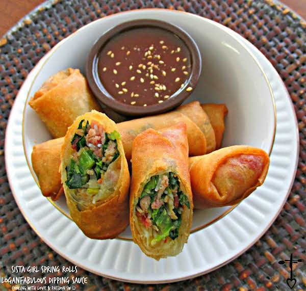 Sista Girl Spring Rolls With Loganfabulous Sauce Recipe