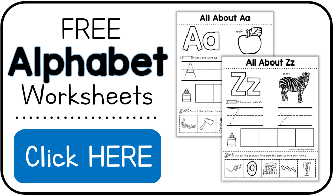 Alphabet Worksheets Activity Pages from A to Z – Free Alphabet Worksheets