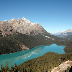pyote lake by Ivor Evans - Landscapes Mountains & Hills ( water, alberta, rocky mountains, lake, glacial,  )
