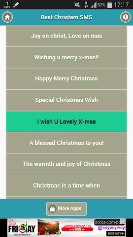 android Best Christmas SMS Screenshot 2