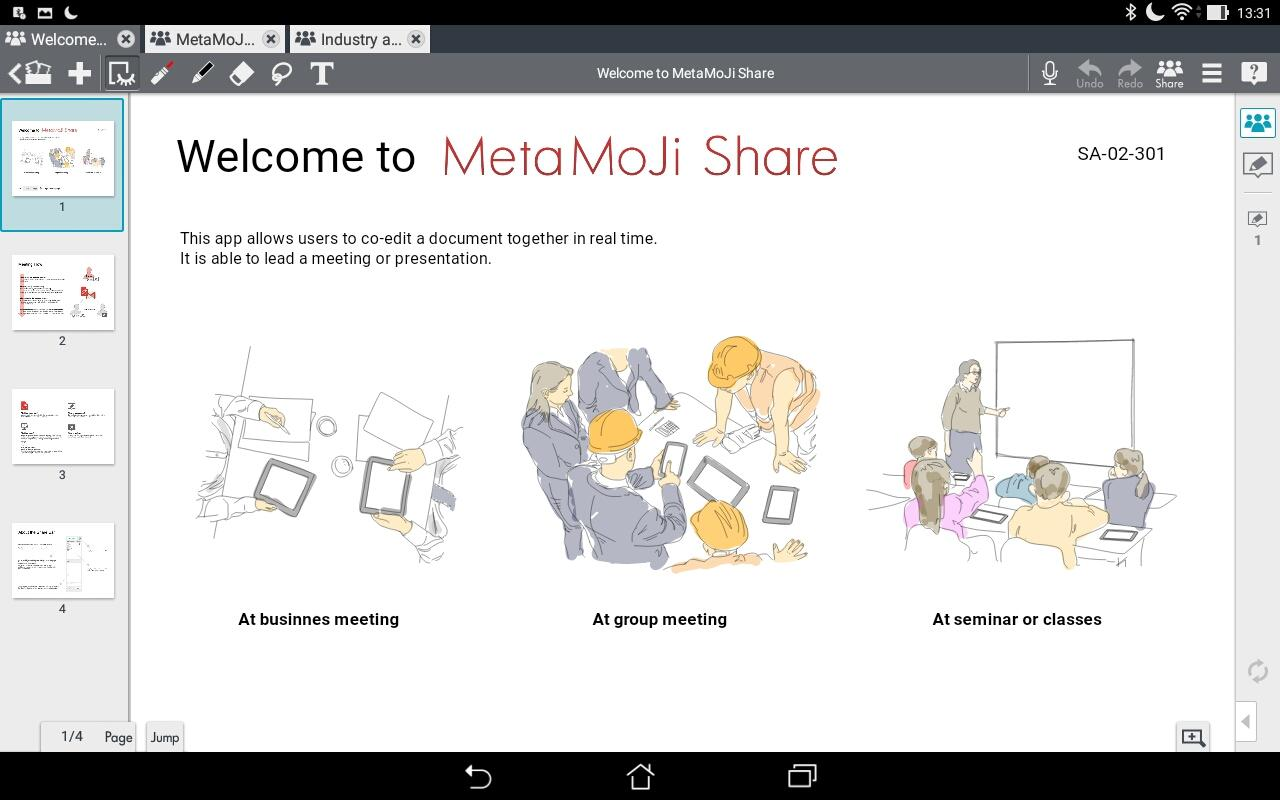 MetaMoJi Note for Business 3- screenshot