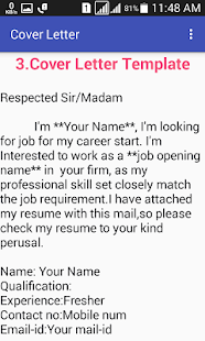 cover letter for freshers screenshot thumbnail - Resume Cover Letter For Freshers