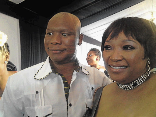 Zindzi Mandela-Hlongwane and her groom, Molapo Motlhajwa, celebrated their marriage in Ikageng, North West, yesterday