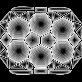 GEMSTONE LINE ART by Gerry Slabaugh - Illustration Abstract & Patterns ( art, illustration, bw, geometric, design )