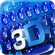 Water Drop 3d Glass Keyboard Theme