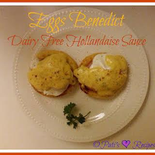 Eggs Benedict Dairy Free Hollandaise Sauce.