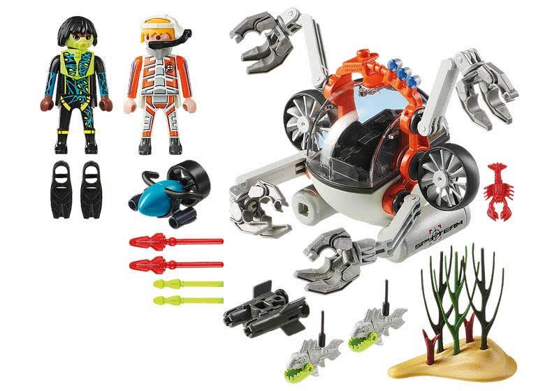 Contenido Real de Playmobil® 70003 SPY TEAM: Sub Bot