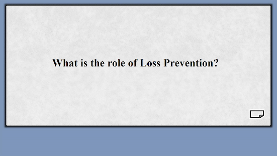 Loss Prevention Flashcards - náhled