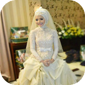 Beautiful Hijab Wedding Dres
