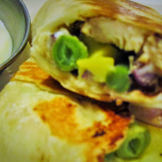 Shawarma Spiced Chicken with Green Beans and Yellow Squash Roll Ups Recipe