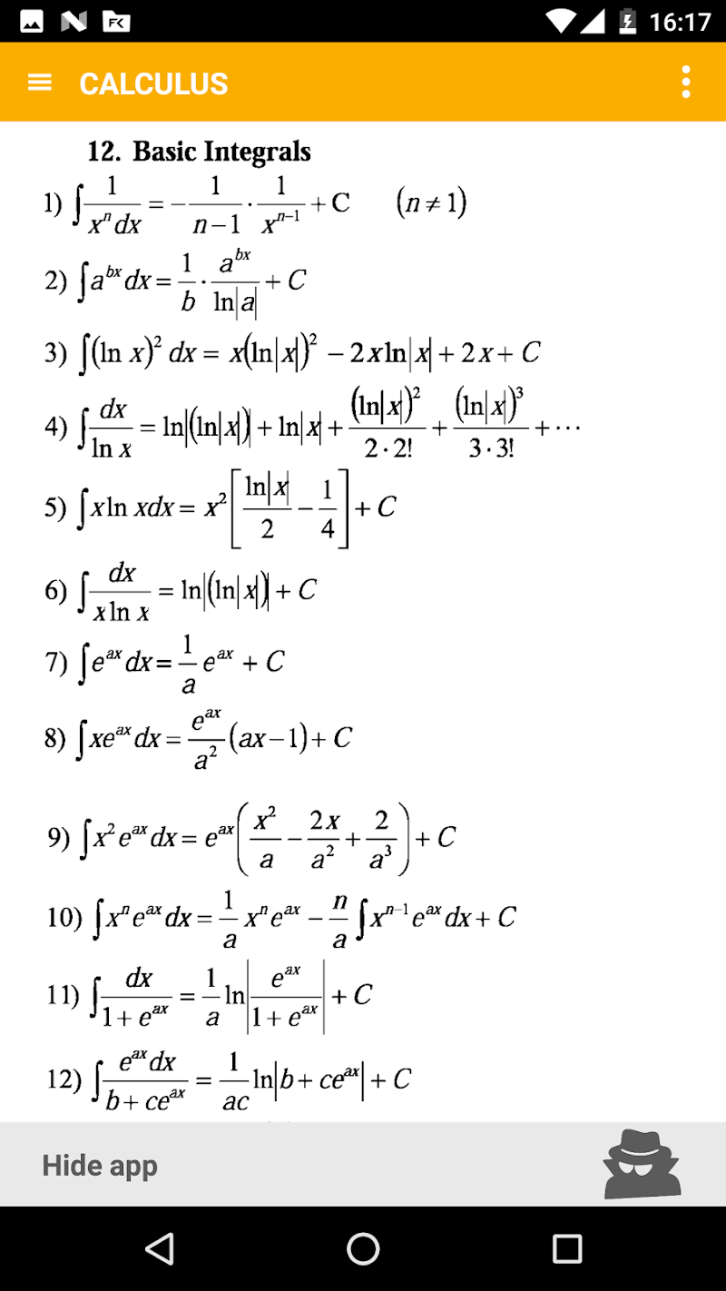 Math - complete pocket guide Screenshot 4